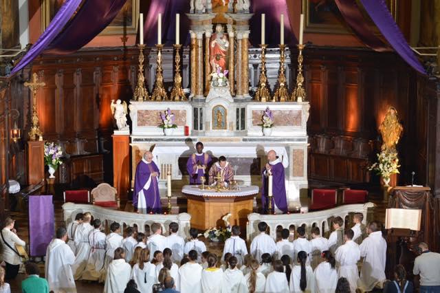 Messe télévisée, paroisse de Solliès-Pont avec la Fraternité
